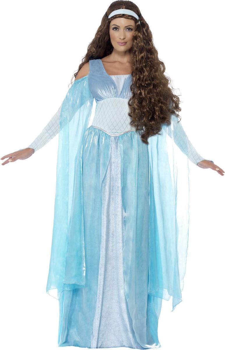 Mittelalterliche Prinzessin Kostm fr Damen blau  gnstige Faschings Kostme bei Karneval