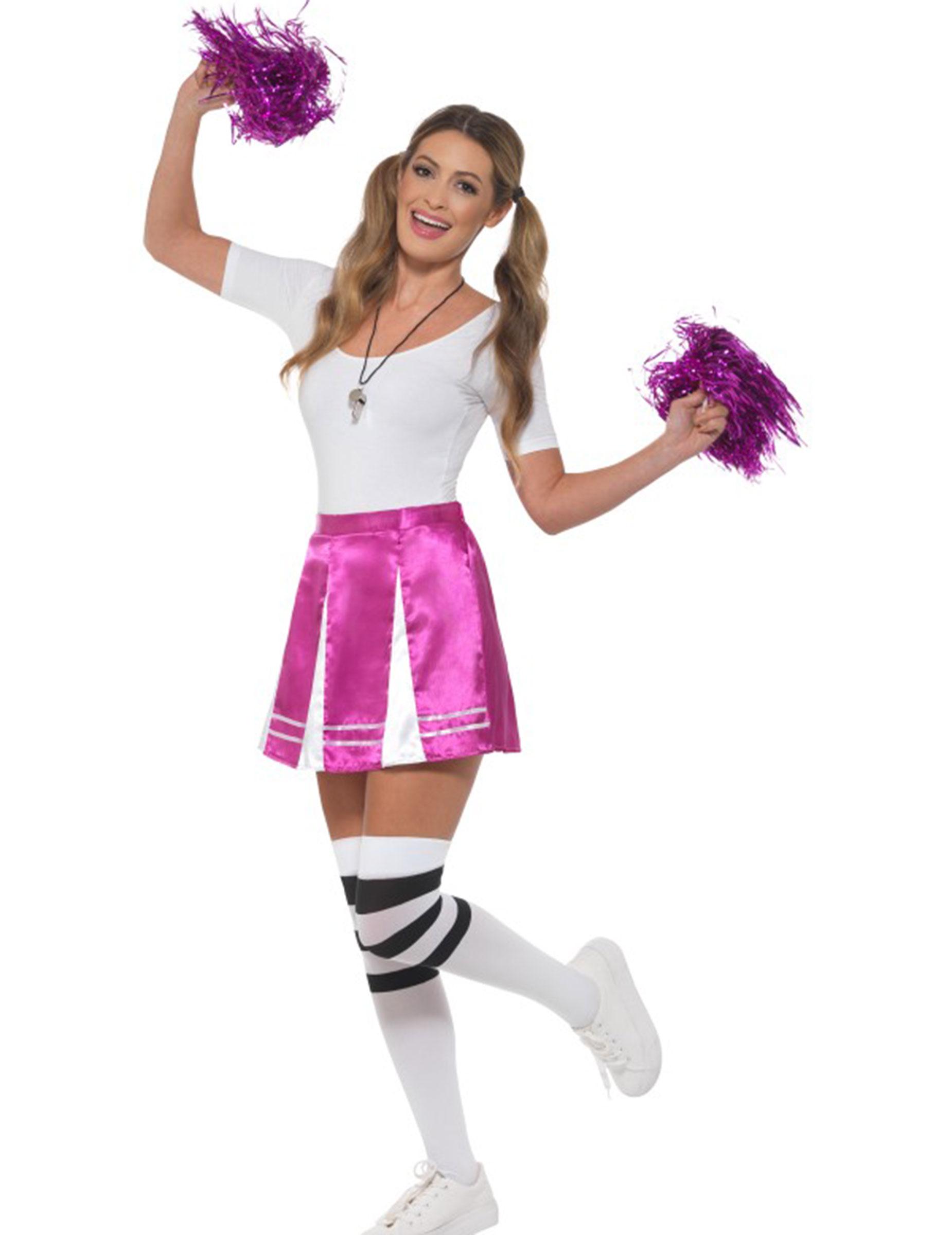 Fasching Kostume Cheerleader Usa Cheerleader Kleid Lila Gelb