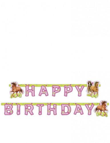 Happy Birthday Pferde Girlande Kindergeburtstag Deko