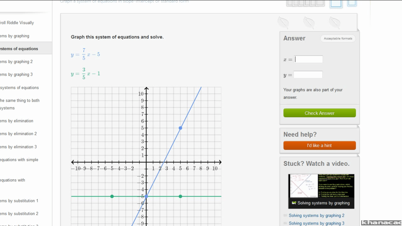 Solving Systems Of Equations By Graphing Worksheet Glencoe
