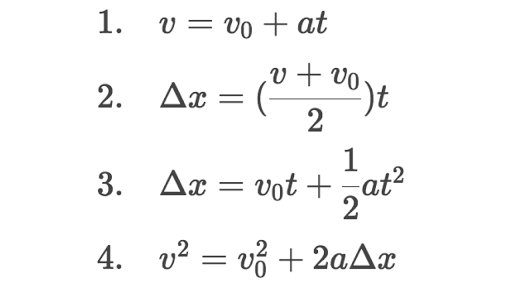 3 Equations Of Motion — Canyon Physics