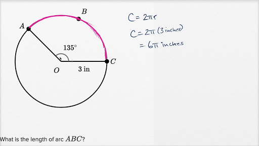 Arc of a circle examples