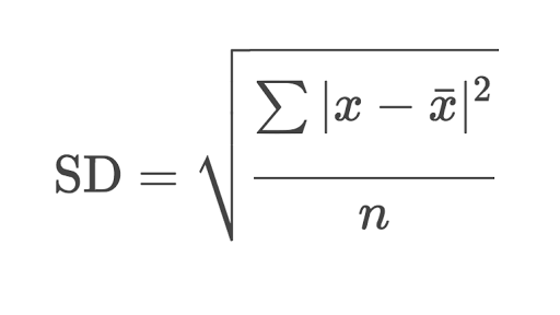 Standard deviation: calculating step by step (article
