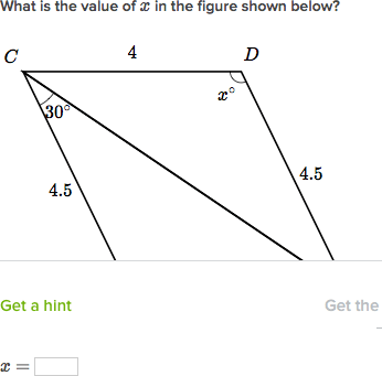 Two triangles have equal area. which of the following