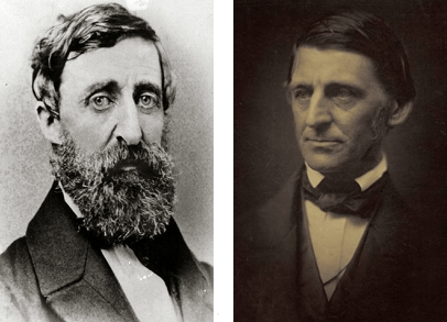 Photos of Henry David Thoreau and Ralph Waldo Emerson