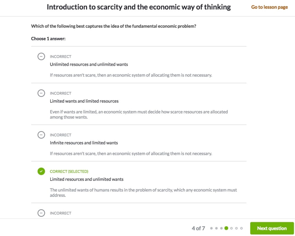 medium resolution of How to practice with our multiple choice questions (article)   Khan Academy