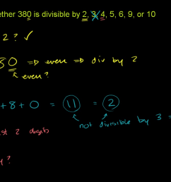 Recognizing divisibility (video)   Khan Academy [ 720 x 1280 Pixel ]