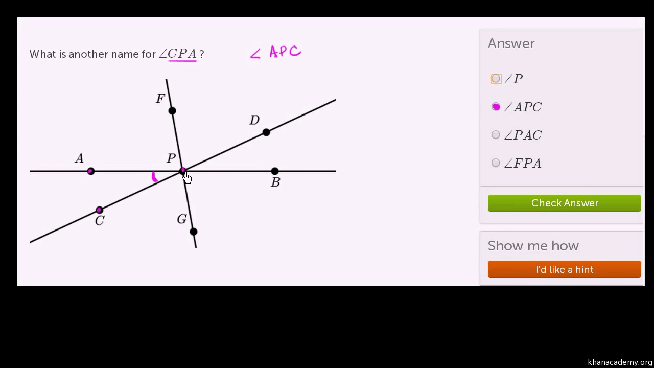 hight resolution of Naming angles (video)   Angle introduction   Khan Academy
