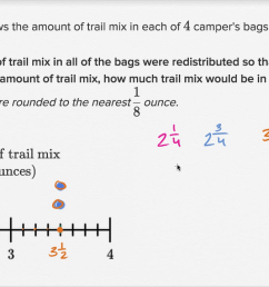 Line plot distribution: trail mix (video)   Khan Academy [ 720 x 1270 Pixel ]