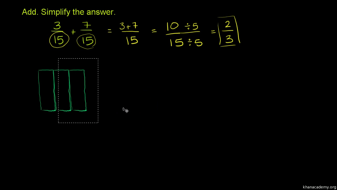 hight resolution of Add and subtract fractions   4th grade   Math   Khan Academy