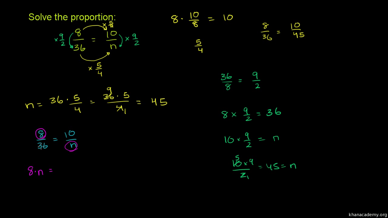 hight resolution of Worked example: Solving proportions (video)   Khan Academy