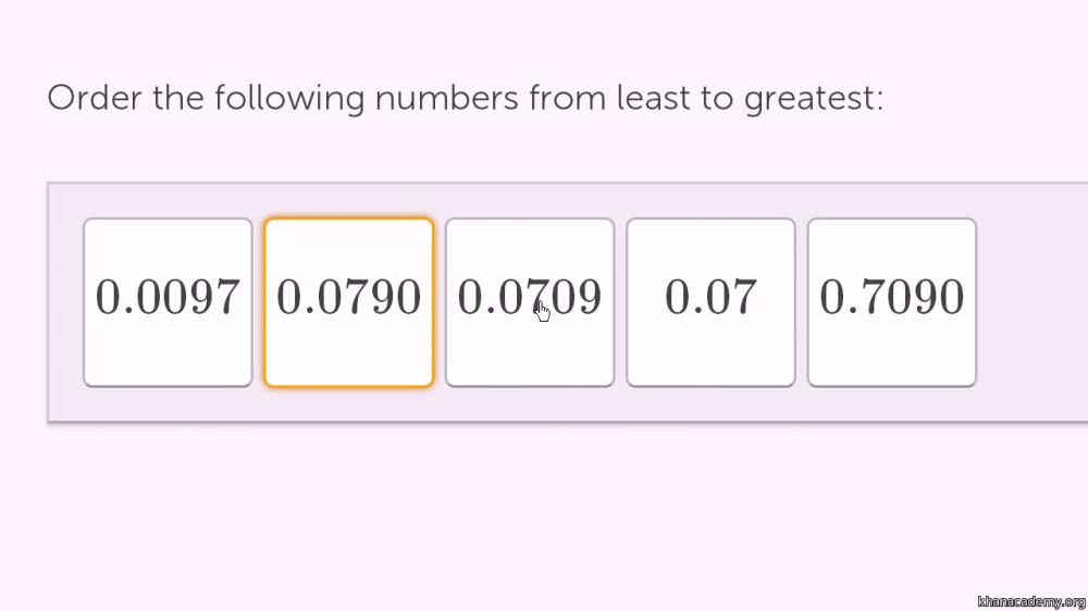medium resolution of Ordering decimals 1 (video)   Decimals   Khan Academy