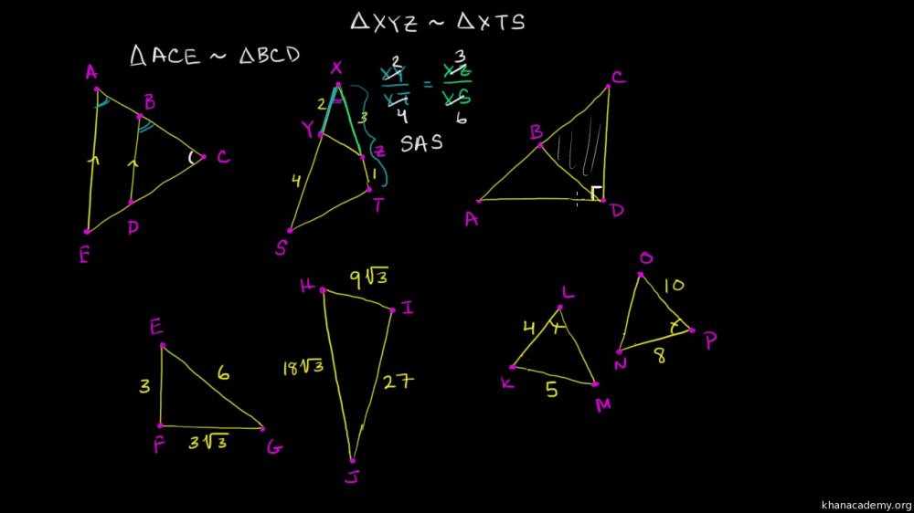 medium resolution of Determining similar triangles (video)   Khan Academy