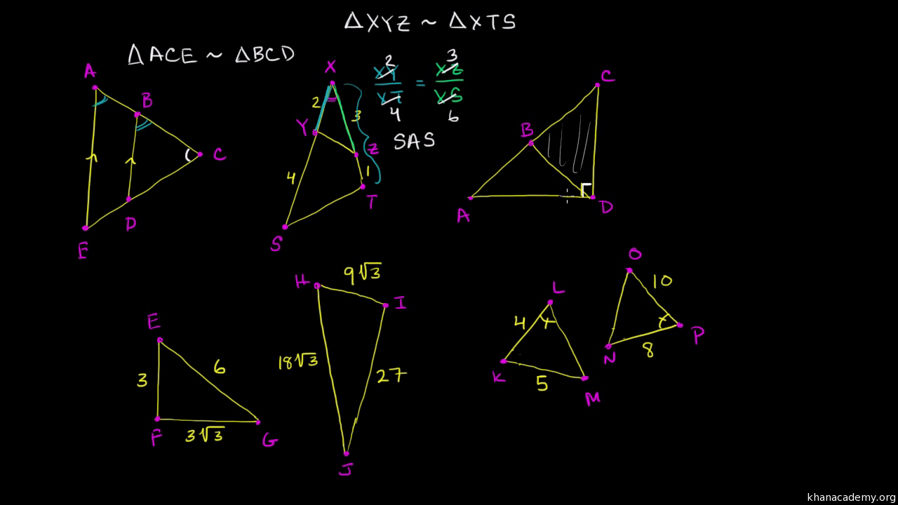 hight resolution of Determining similar triangles (video)   Khan Academy