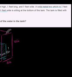 Volume word problem: water tank (video)   Khan Academy [ 720 x 1280 Pixel ]