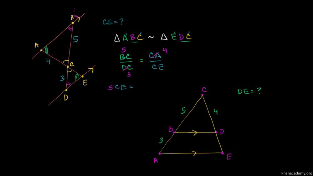 medium resolution of Solving similar triangles (video)   Khan Academy