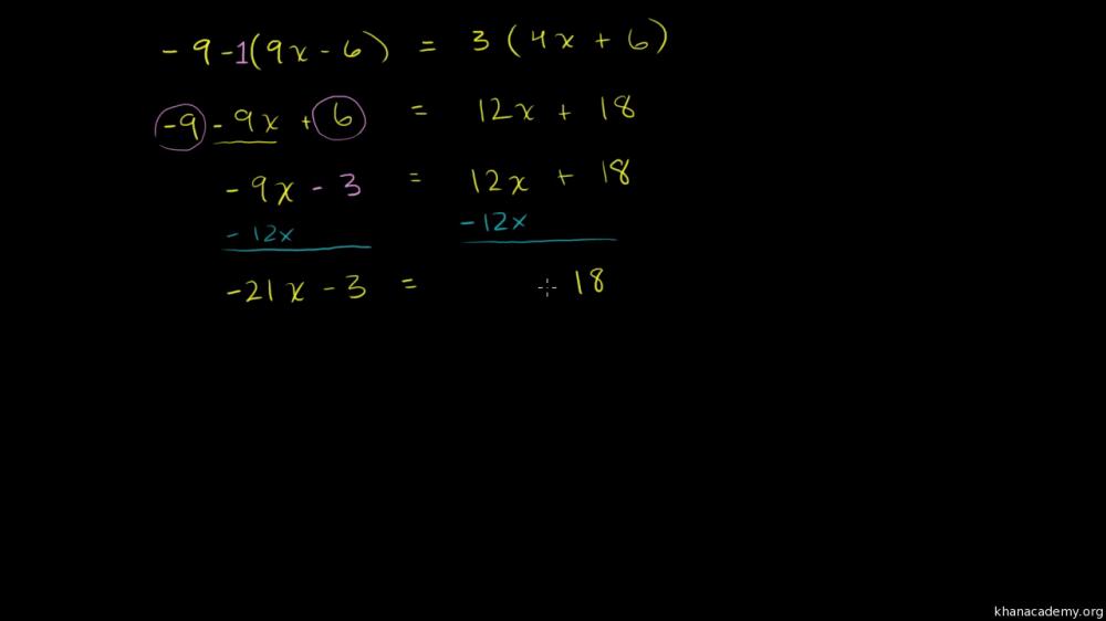medium resolution of Linear equations and inequalities   Algebra basics   Math   Khan Academy