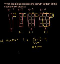 Sequences word problem: growth pattern (video)   Khan Academy [ 720 x 1280 Pixel ]