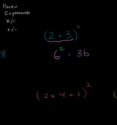 Order of operations examples: exponents (video)   Khan Academy [ 720 x 1280 Pixel ]