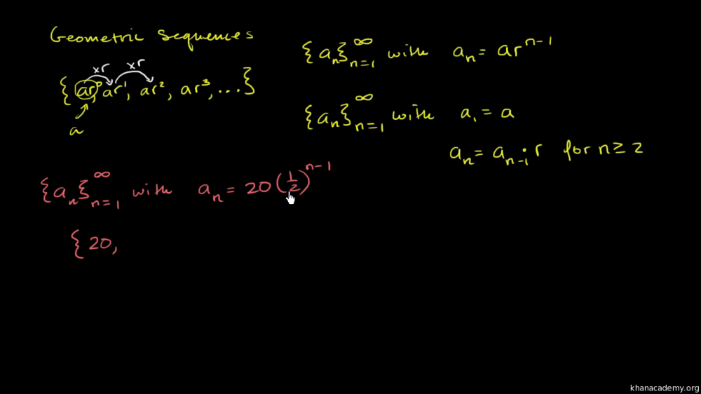 medium resolution of Intro to geometric sequences (advanced) (video)   Khan Academy