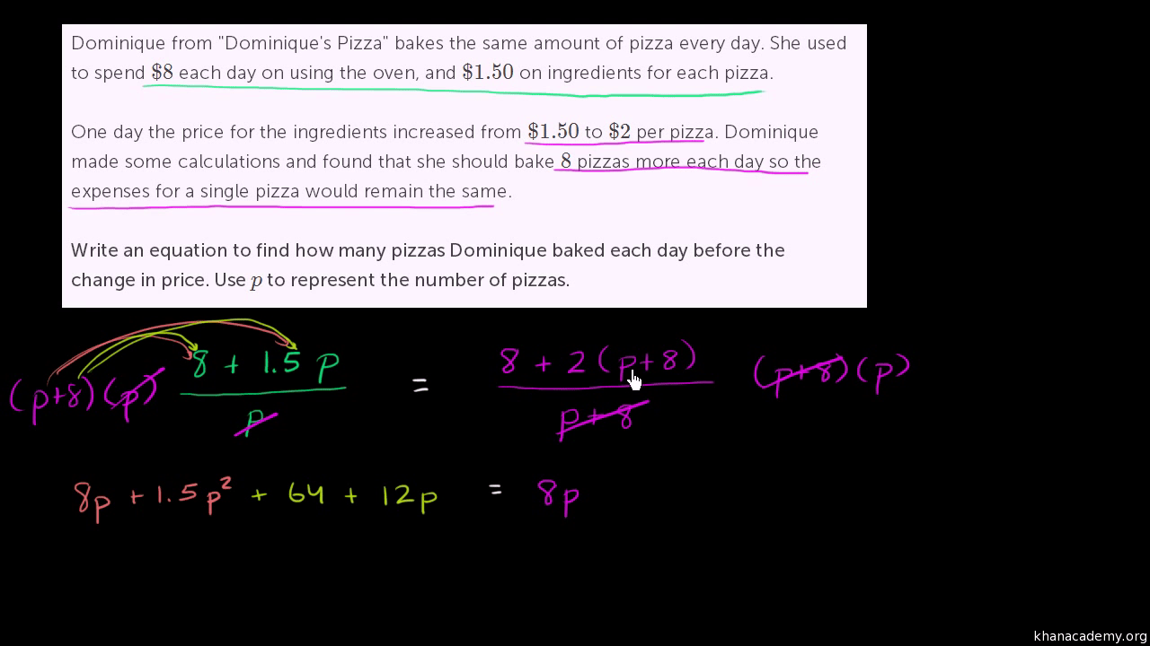 hight resolution of Rational equation word problem (video)   Khan Academy