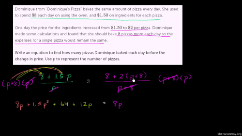 small resolution of Rational equation word problem (video)   Khan Academy