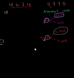Rounding to nearest 10 and 100 (video)   Khan Academy [ 720 x 1280 Pixel ]