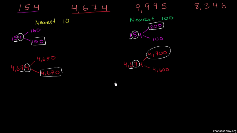 medium resolution of Rounding to nearest 10 and 100 (video)   Khan Academy