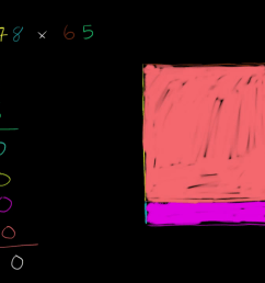 Multiplying with area model: 78 x 65 (video)   Khan Academy [ 720 x 1280 Pixel ]