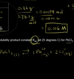 Introduction to solubility and solubility product constant (video)   Khan  Academy [ 720 x 1280 Pixel ]