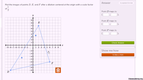 small resolution of Dilating shapes: shrinking by 1/2 (video)   Khan Academy