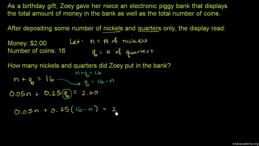 medium resolution of Systems of equations   8th grade   Math   Khan Academy