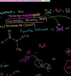 substitution and elimination reactions organic chemistry khan academy [ 1280 x 720 Pixel ]