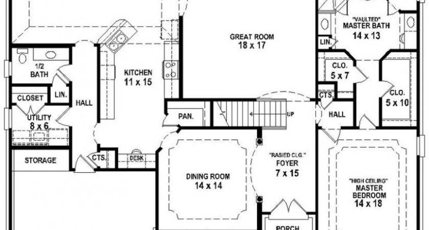 Awesome 2 Bedroom 3 Bath House Plans 18 Pictures