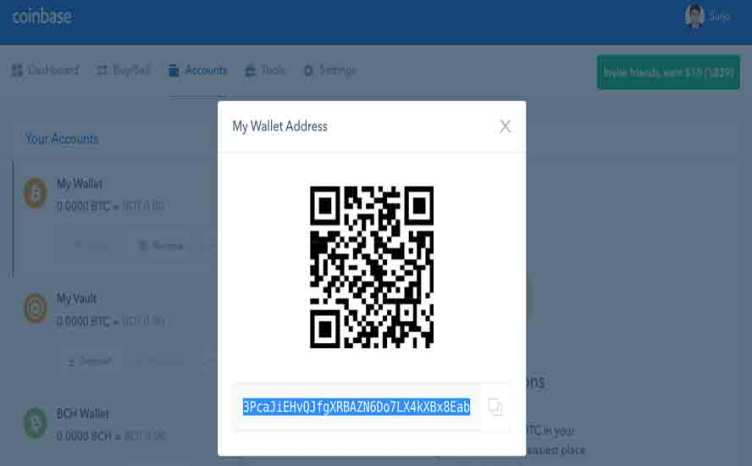 coinbase bitcoin address