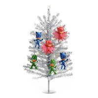 BuySeasons PJ Mask Mini Christmas Tree Kit Silver ...