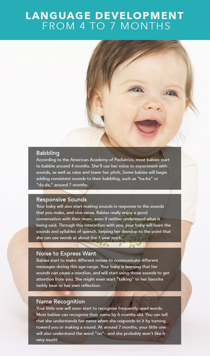 What Baby Will Look Like : 4-Month-Old, Milestones:, Language, Development, Months, Care.com