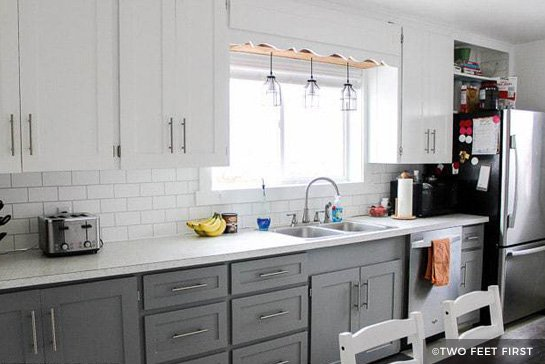 can i paint my kitchen cabinets how to design the painting before after gray and white painted