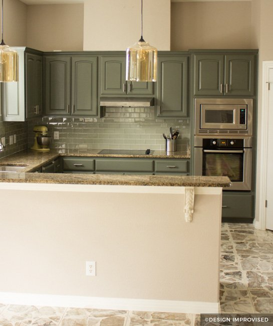 can i paint my kitchen cabinets bar painting before after green painted with teal backsplash