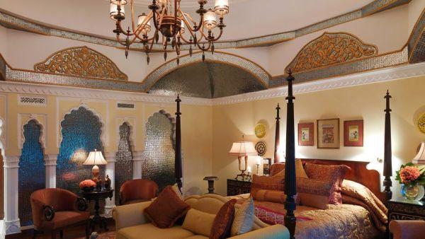indian palace bedroom Rambagh Palace, Jaipur, Rajasthan, India