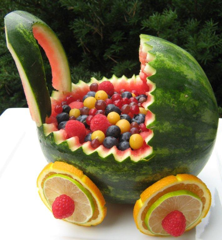 Baby Shower Fruit Salad Carriage