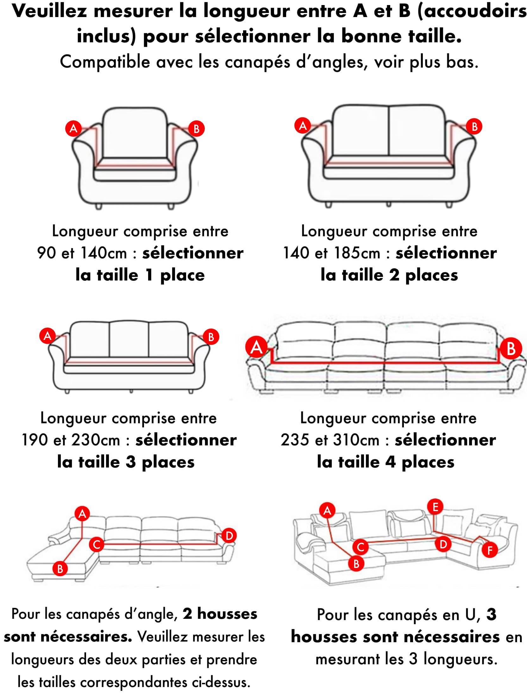 housse de canape ou fauteuil couleur unie
