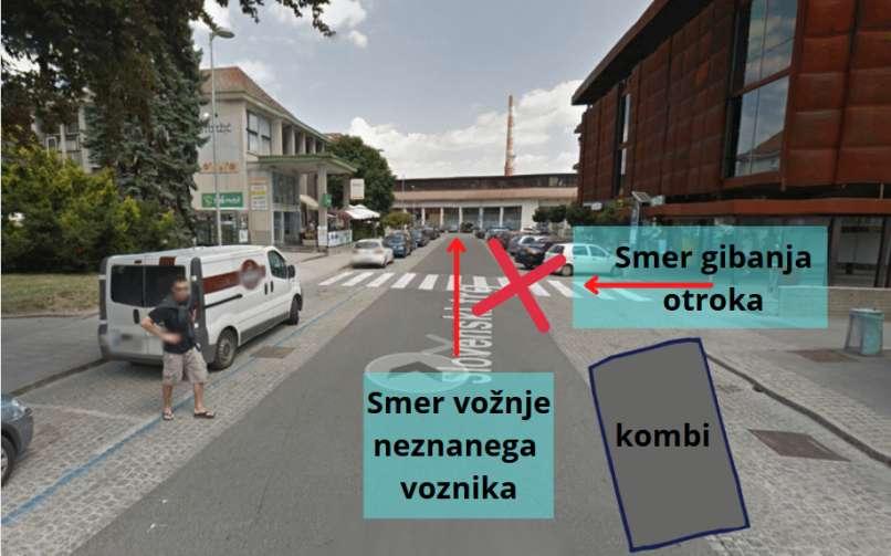 Iščejo voznika, ki je v Kranju oplazil otroka