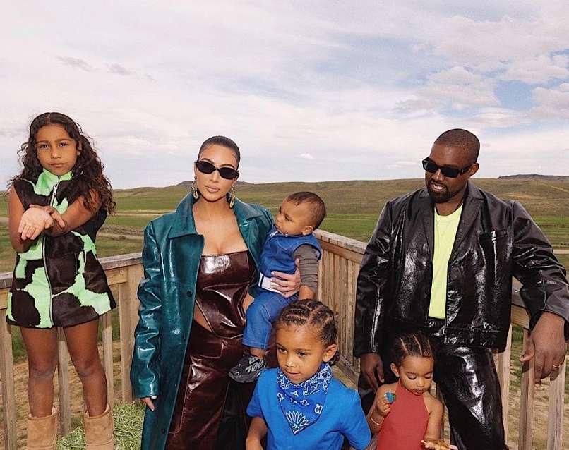Kim in Kanye West