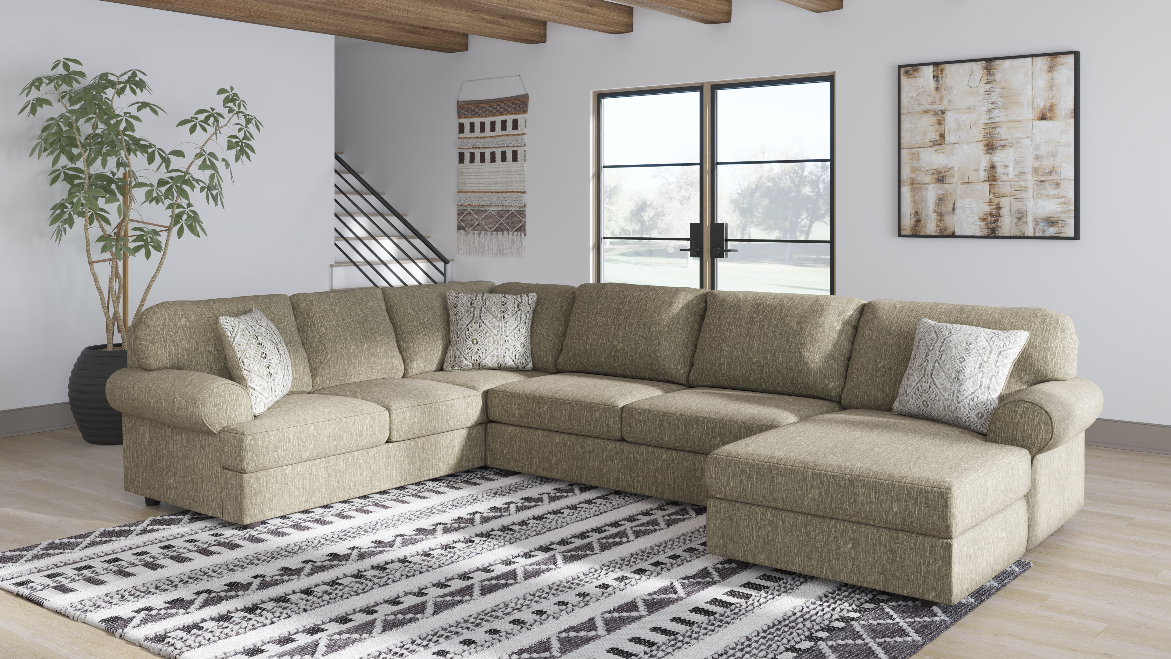 hoylake 3 piece sectional with chaise