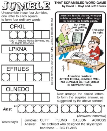 It is a photo of Unforgettable Printable Jumble Crossword Puzzles