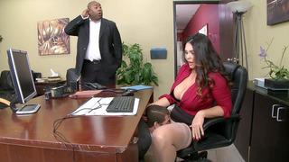 Dirty milf boss Alison Tyler has office sex fun sex video