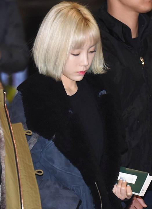 13 Photos Unveil Taeyeons Drastic New Hairstyle Change