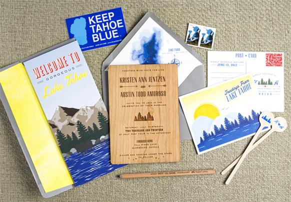 Lake Tahoe Wedding Invitations With