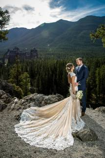 Fall Wedding Tunnel Mountain Reservoir Banff Item 14
